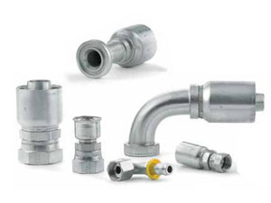 permanent crimp-style and reusable (field attachable)hose end fittings