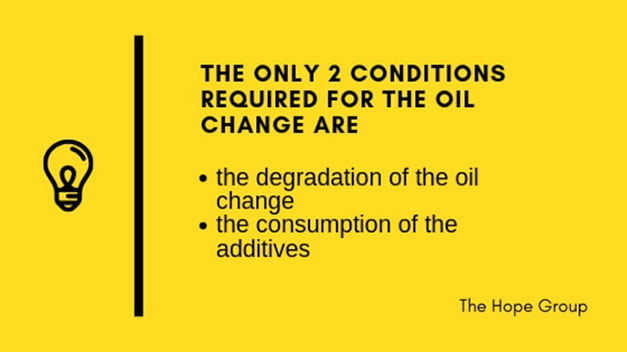 Conditions Required For Oil Change Are Degradation and Consumption of Additives