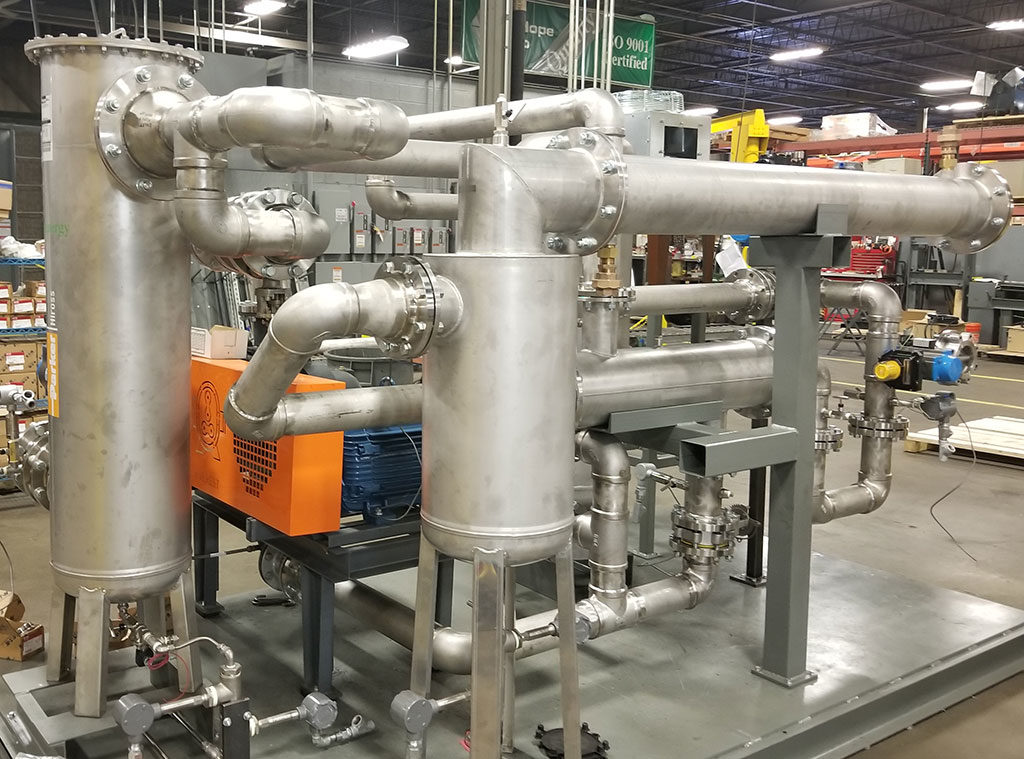 Methane Extraction and Dehumidification Skid