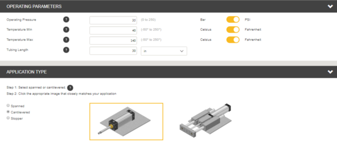 Virtual Engineer Tool from Parker To Change Linear Motion
