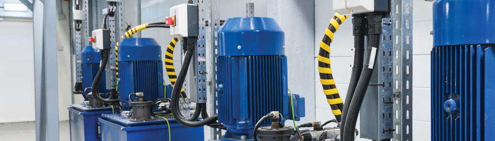 industrial hydraulic power units in an injection molding process