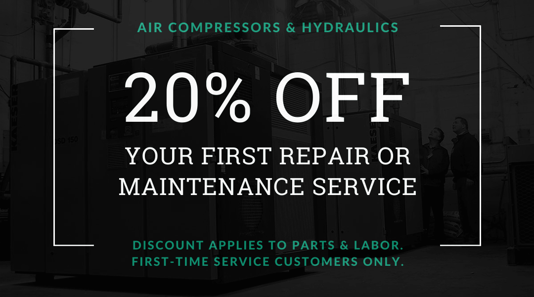 20% off your first air compressor or hydraulicrepair / maintenance service