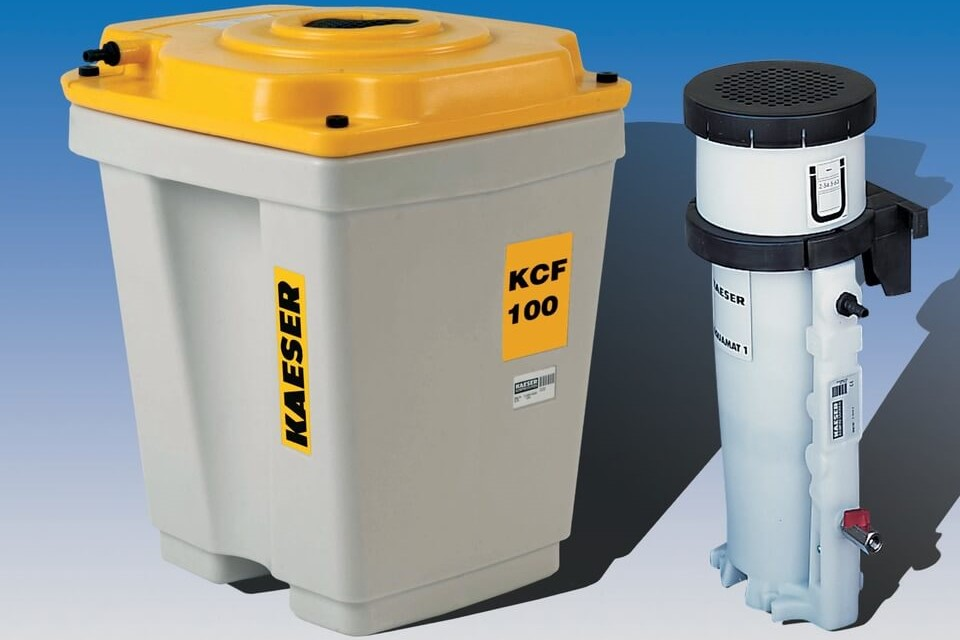 Air compressor condensate oil / water separator and filtration system