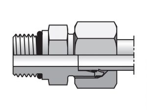Parker EO Metric Bite Type Straight Connector