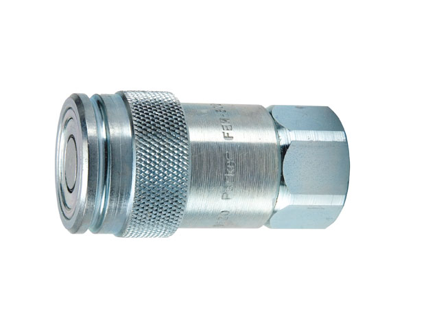 Parker FEM series hydraulic quick coupling, non-spill